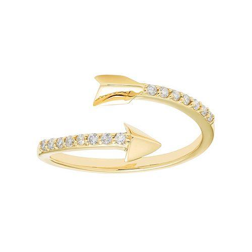 10k Gold 1/6 Carat T.W. Diamond Arrow Ring
