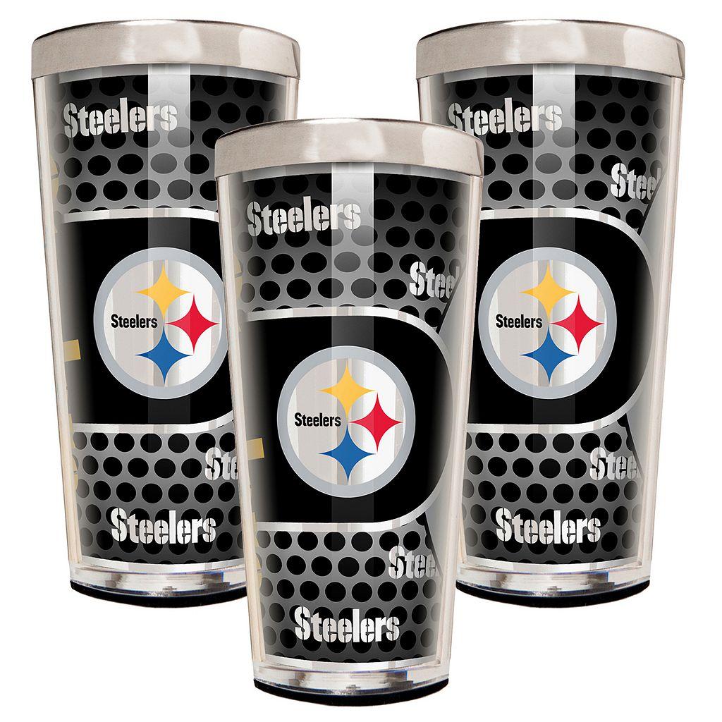 Pittsburgh Steelers 3-Piece Shot Glass Set