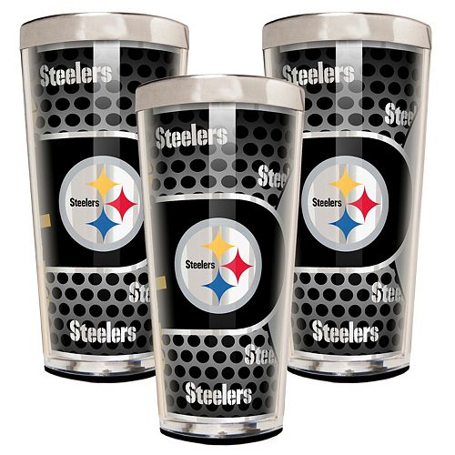 Pittsburgh Steelers 3-Piece Shot Glass Set