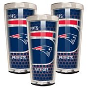 New England Patriots 3 pc Shot Glass Set