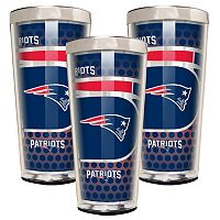 New England Patriots 3-Piece Shot Glass Set