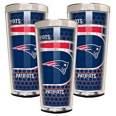 New EnglandPatriots 3-Piece Shot Glass Set