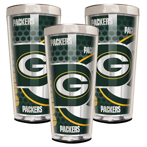 Green Bay Packers 3-Piece Shot Glass Set
