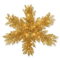 National Tree Company 32 in Pre-Lit Tinsel Snowflake Wall Decor