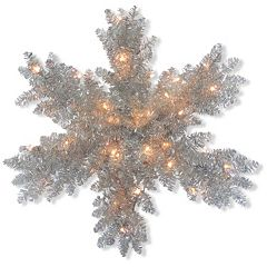 National Tree Company 32-in. Pre-Lit Tinsel Snowflake Wall Decor