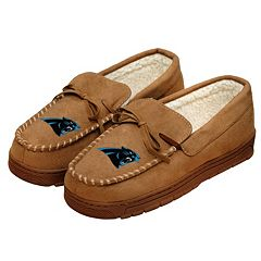 Men's Forever Collectibles Carolina Panthers Moccasin Slippers