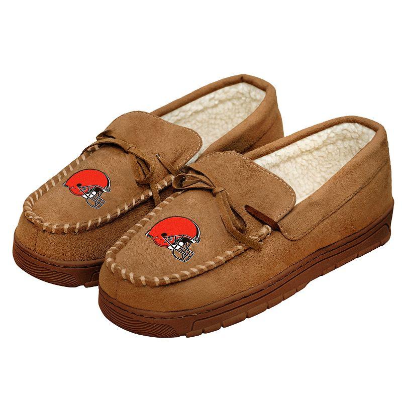 FOCO NFL Cleveland Browns Mens Football Team Logo Moccasin Slippers Shoesfootball Team Logo Moccasin Slippers Shoes, Team Color, X-Large (13-14) -  Team Beans, LLC