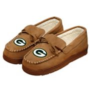 Men's Forever Collectibles Green Bay Packers Moccasin Slippers