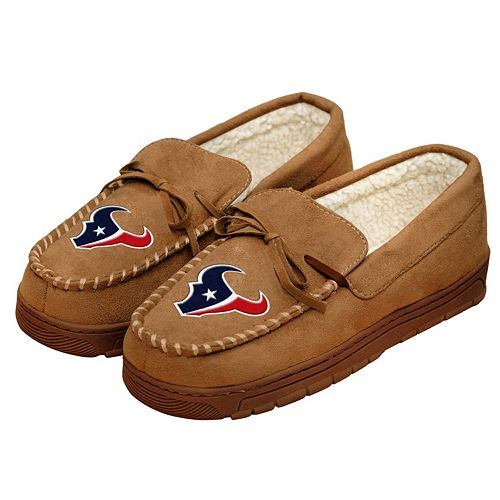 Men's Forever Collectibles Houston Texans Moccasin Slippers