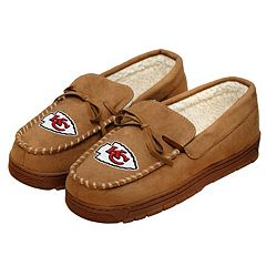 9ded6b2f12c Men s Forever Collectibles Kansas City Chiefs Moccasin Slippers