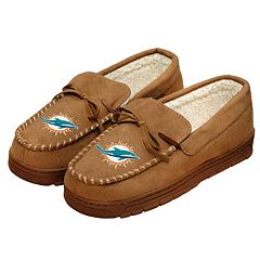 Men's Forever Collectibles Miami Dolphins Moccasin Slippers