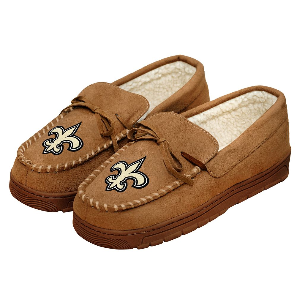Men's Forever Collectibles New Orleans Saints Moccasin Slippers