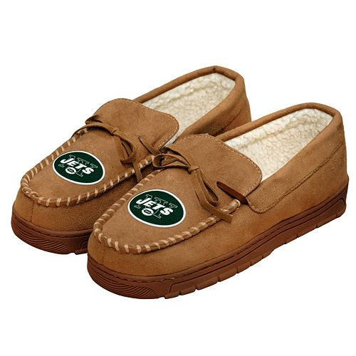 Men's Forever Collectibles New York Jets Moccasin Slippers