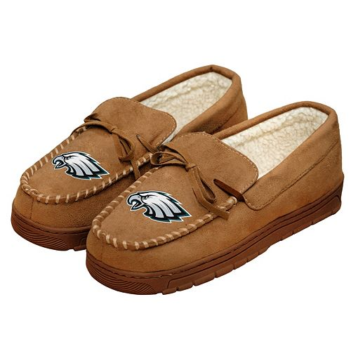 Men's Forever Collectibles Philadelphia Eagles Moccasin Slippers