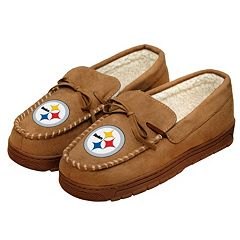 Men's Forever Collectibles Pittsburgh Steelers Moccasin Slippers