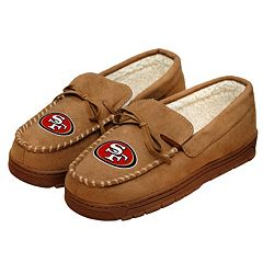 Men's Forever Collectibles San Francisco 49ers Moccasin Slippers