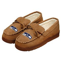 Men's Forever Collectibles Seattle Seahawks Moccasin Slippers