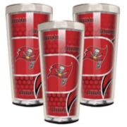 Tampa Bay Buccaneers 3-Piece Shot Glass Set