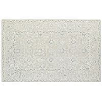 Oriental Weavers Manor Tone-on-Tone Framed Floral Wool Rug