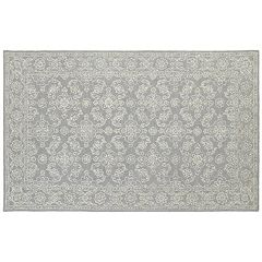 Oriental Weavers Manor Soothing Traditions Framed Floral Wool Rug