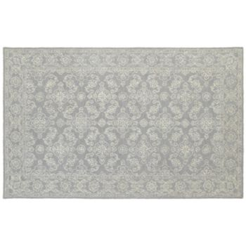 StyleHaven Milton Soothing Traditions Framed Floral Wool Rug