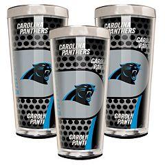 Carolina Panthers 3-Piece Shot Glass Set