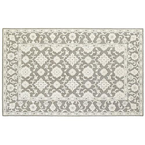 StyleHaven Milton Framed Floral Wool Rug