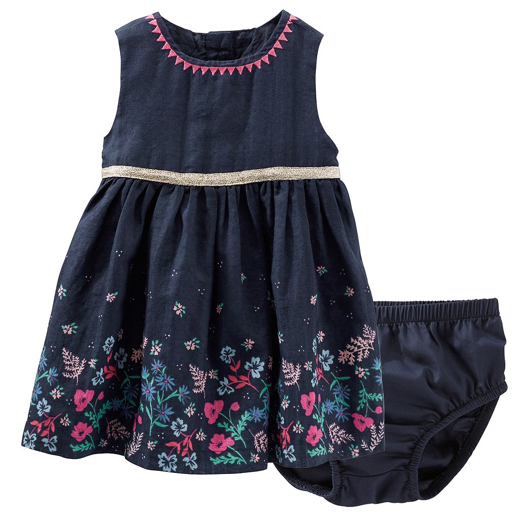 Baby Girl OshKosh B'gosh® Floral Embroidered Dress