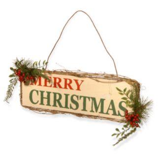 "National Tree Company ""Merry Christmas"" Door Sign Wall Decor"
