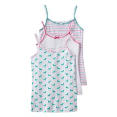 Girls 2-16 Trimfit 3-pk. Pattern Camisoles