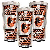 Baltimore Orioles 3-Piece Shot Glass Set