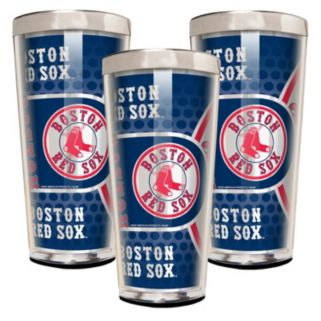 Boston Red Sox 3-Piece Shot Glass Set