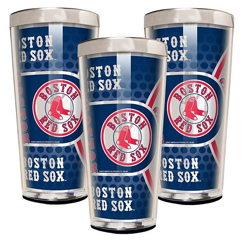 Boston Red Sox 3-Piece Shot Glass Set