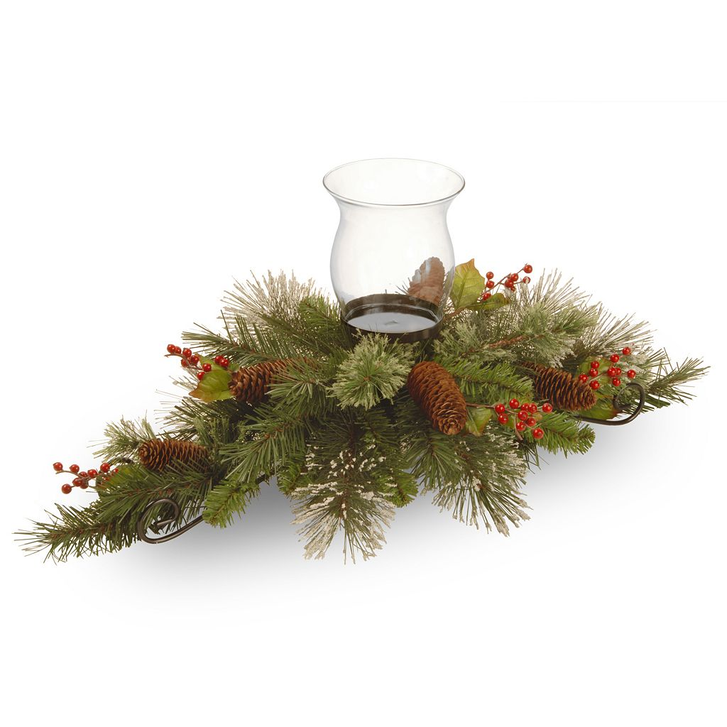 National Tree Company 30-in. Artificial Wintry Pine Candle Holder