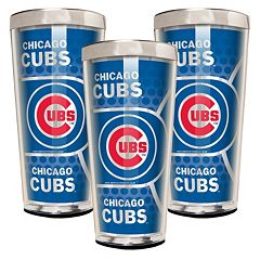 Chicago Cubs 3 pc Shot Glass Set