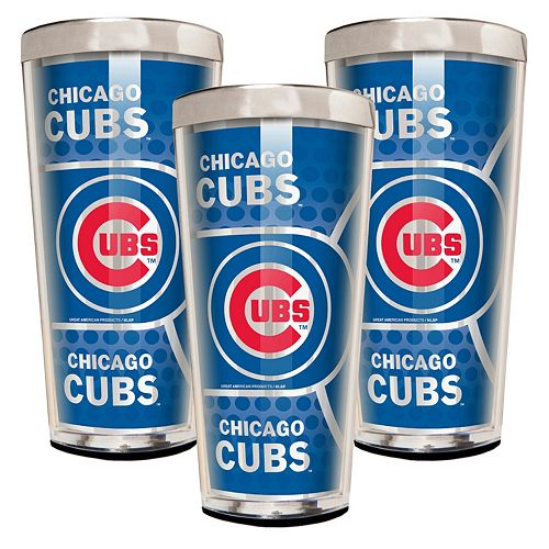 Chicago Cubs 3-Piece Shot Glass Set