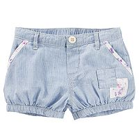 Baby Girl OshKosh B'gosh® Hickory Stripe Patchwork Bubble Shorts