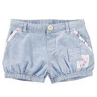 Baby Girl OshKosh B'gosh® Hickory Stripe Patchwork Bubble Shorts