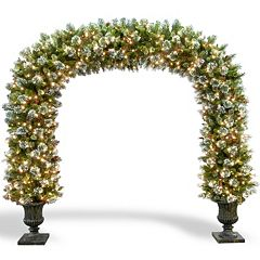 National Tree Company 8.5-ft. Pre-Lit Artificial Wintry Pine Archway Christmas Decor