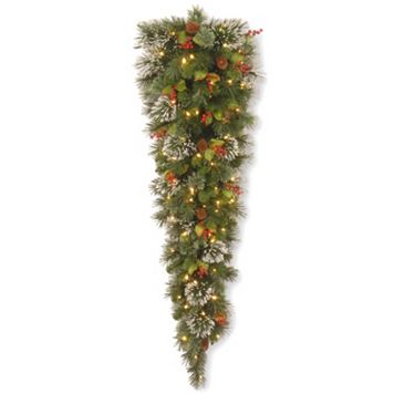 National Tree Company 5-ft. Pre-Lit Artificial Wintry Pine Christmas Wall Decor