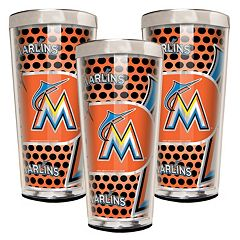Miami Marlins 3-Piece Shot Glass Set