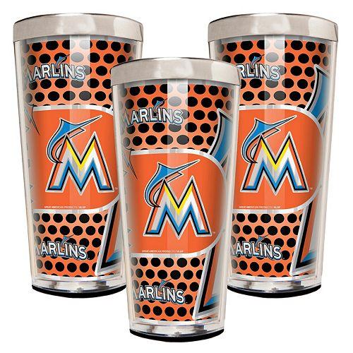 Miami Marlins 3-Piece Shot Glass Set