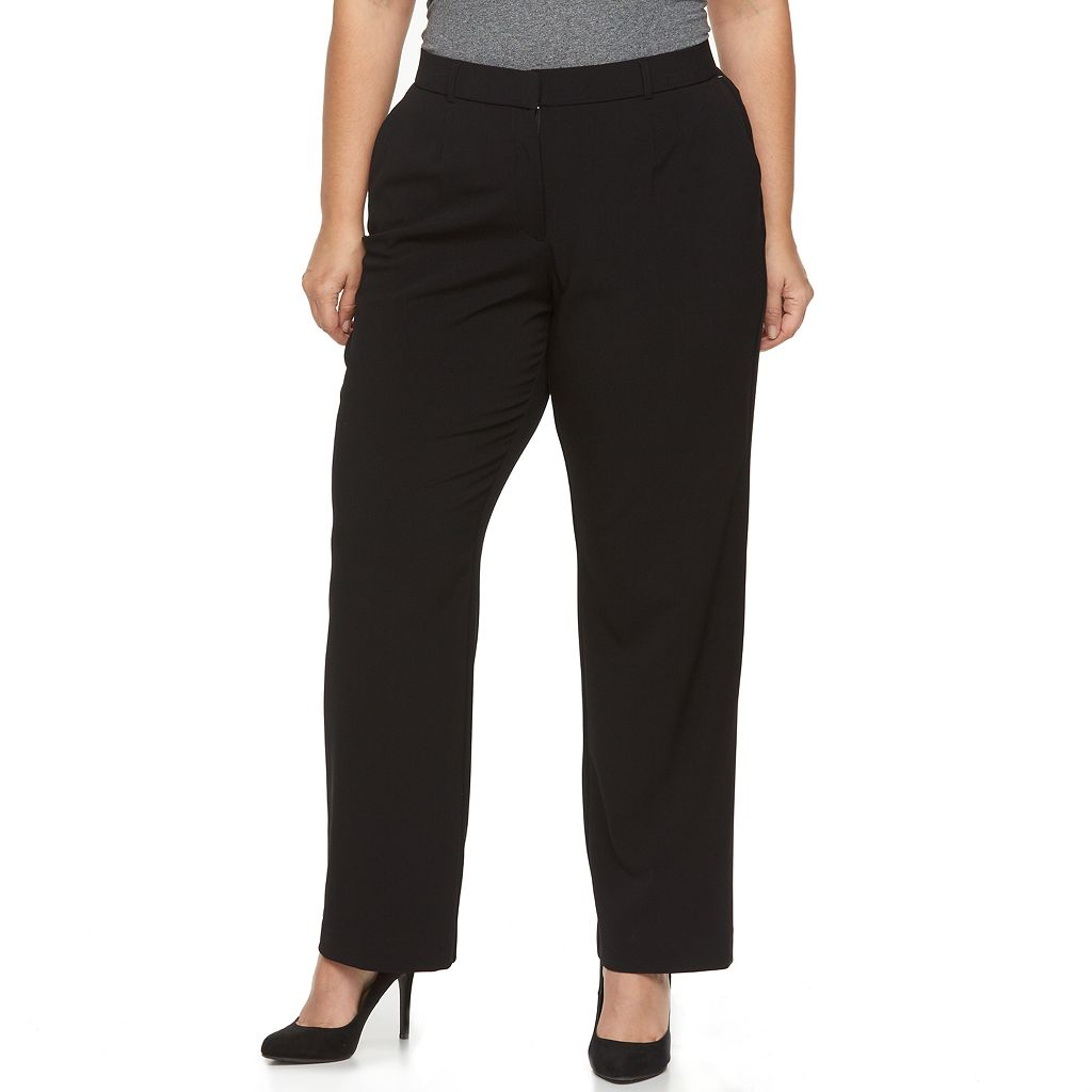 Plus Size Napa Valley Comfort Waist Slimming Bi-Stretch Dress Pants