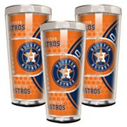 Houston Astros 3 pc Shot Glass Set