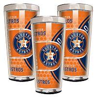 Houston Astros 3-Piece Shot Glass Set