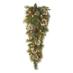 National Tree Company 36-in. Pre-Lit Artificial Wintry Pine Christmas Wall Decor
