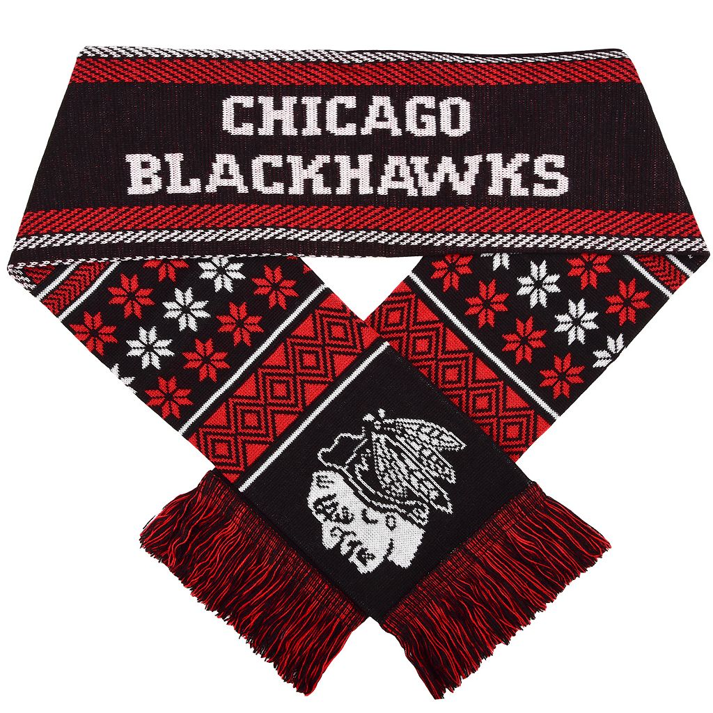 Forever Collectibles Chicago Blackhawks Lodge Scarf