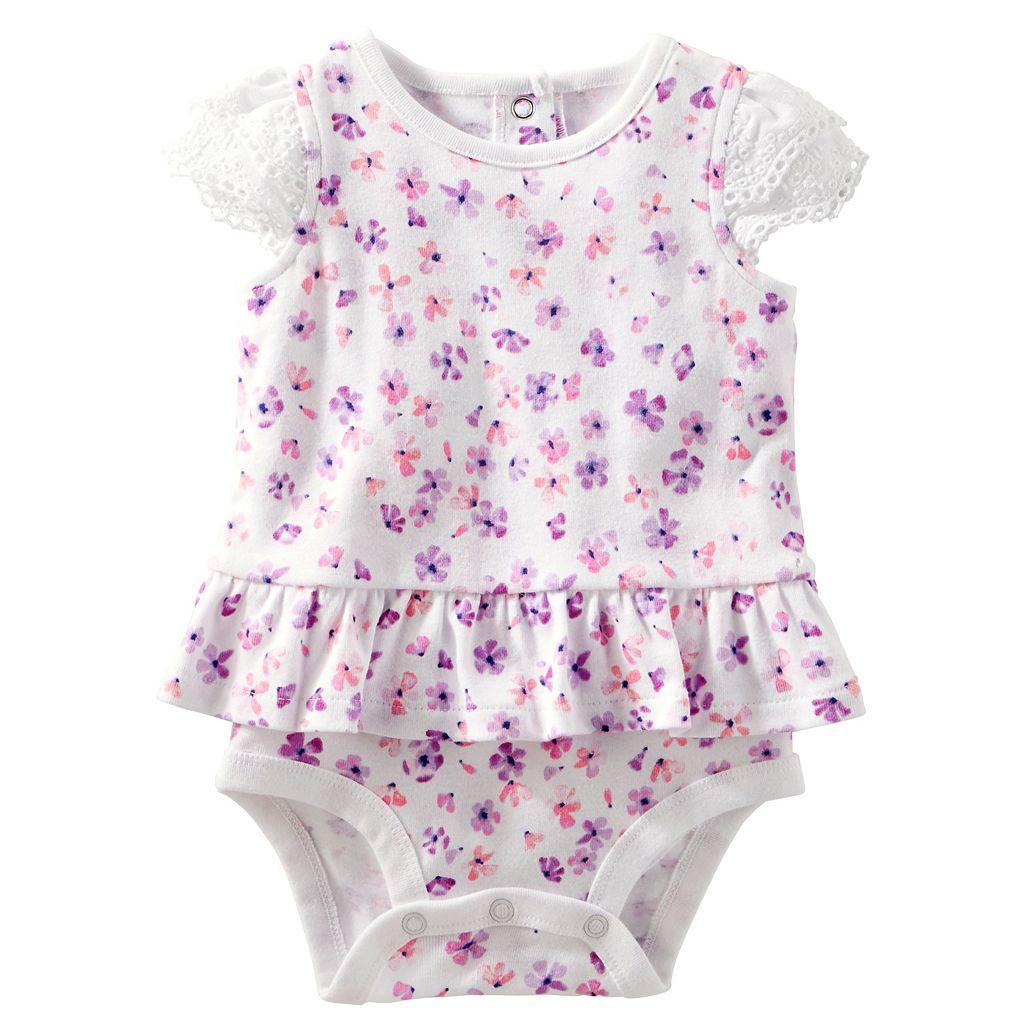 Baby Girl OshKosh B'gosh® Floral Skirted Bodysuit