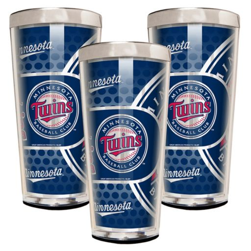 Minnesota Twins 3-Piece Shot Glass Set