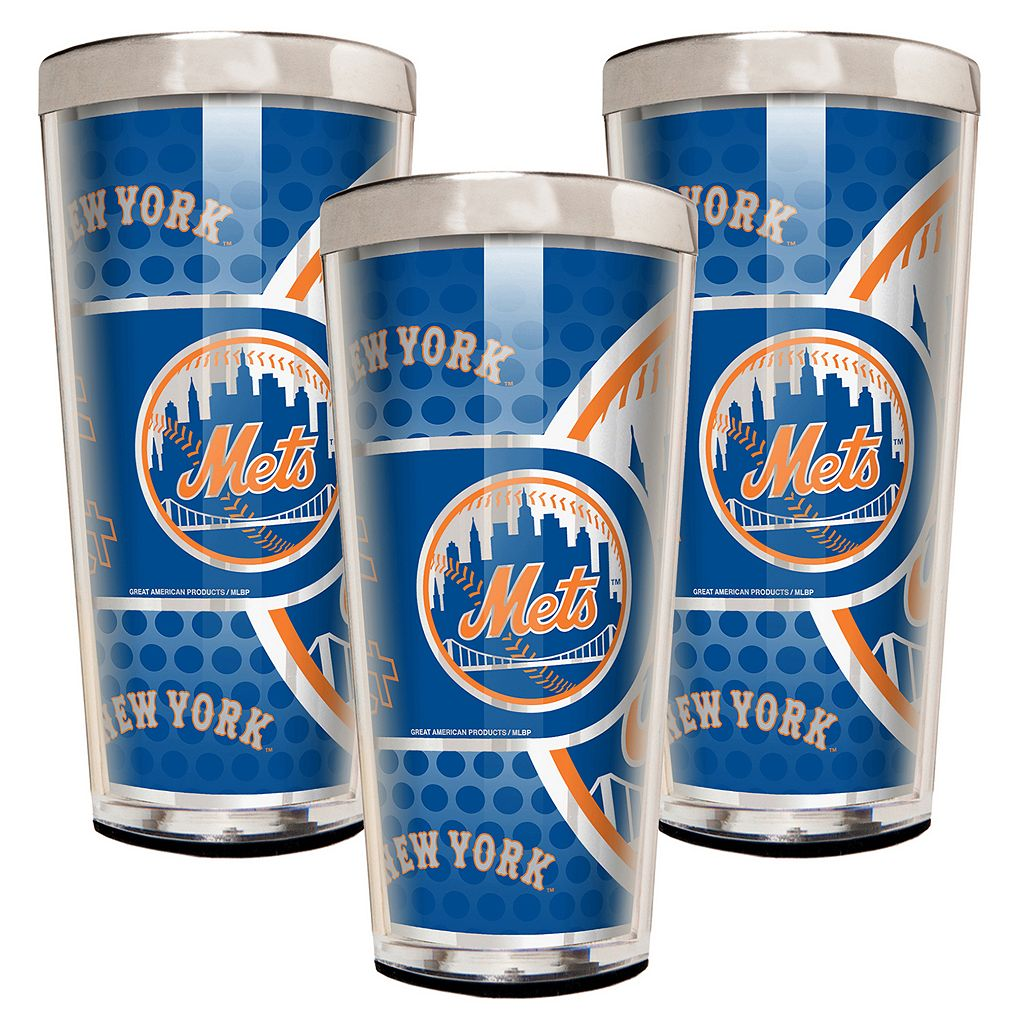 New York Mets 3-Piece Shot Glass Set